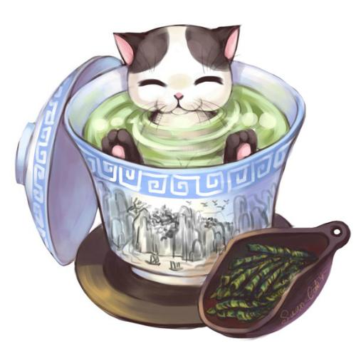виды чая, диджитал-арт