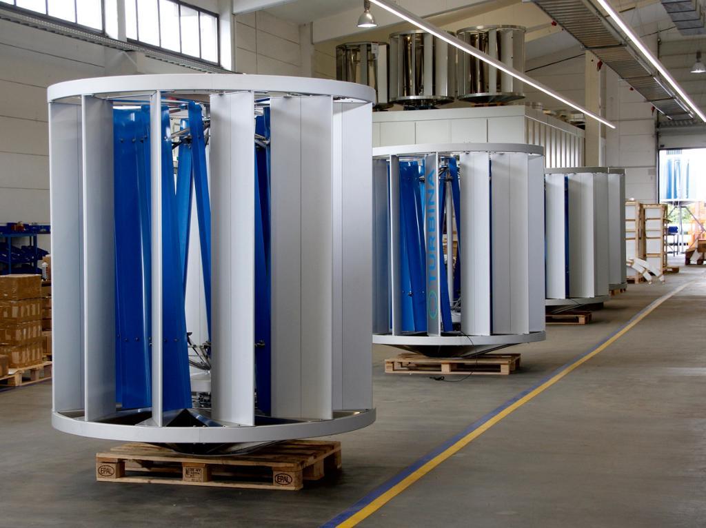 Windturbine mit vertikaler Achse und Stator, te-20-turbine, TURBINA Energy AG, TURBINA TE20, Windturbine TURBINA TE20, Wechselrichter (Windkraft)