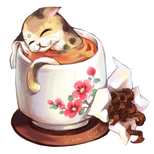 кошка, жасмин
