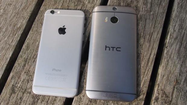 iPhone vs m8