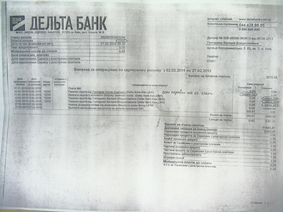 """Сын Гонтаревой забрал деньги из """"Дельты"""" аккурат перед банкротством банка, – СМИ"""