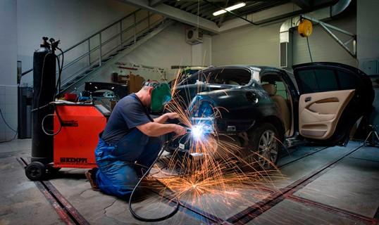 при ремонте автомобилей.