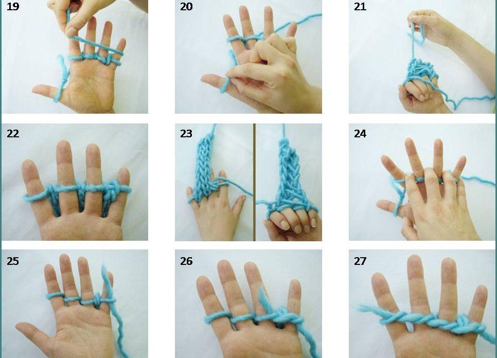 Как вязать из ниток на пальцах