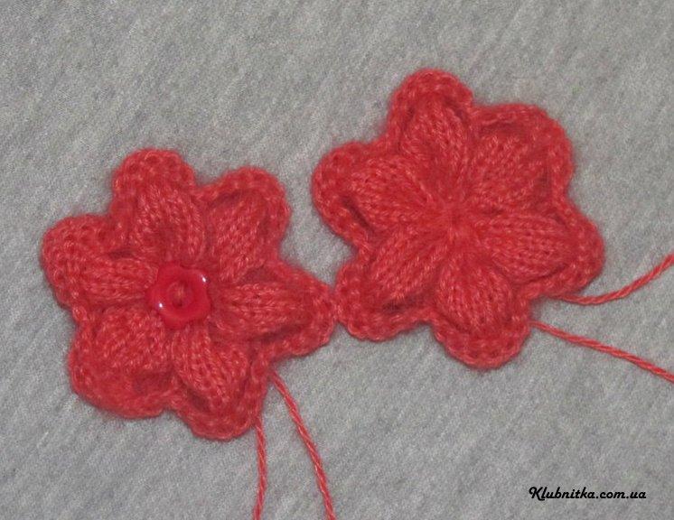 вязание спицами цветов схемы