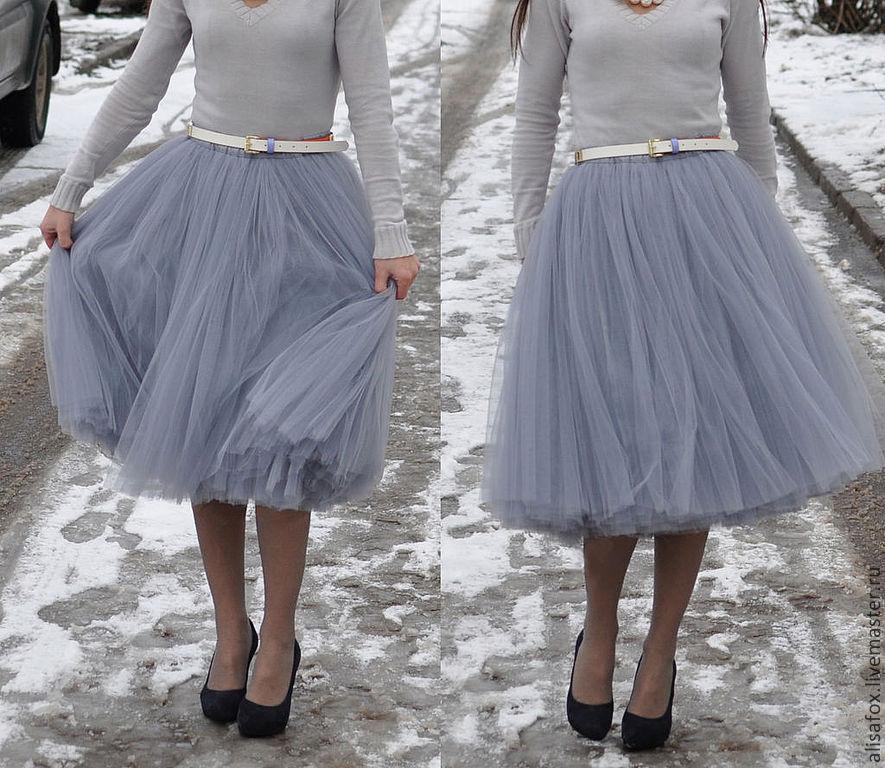 С чем носить пышную юбку на талии 181