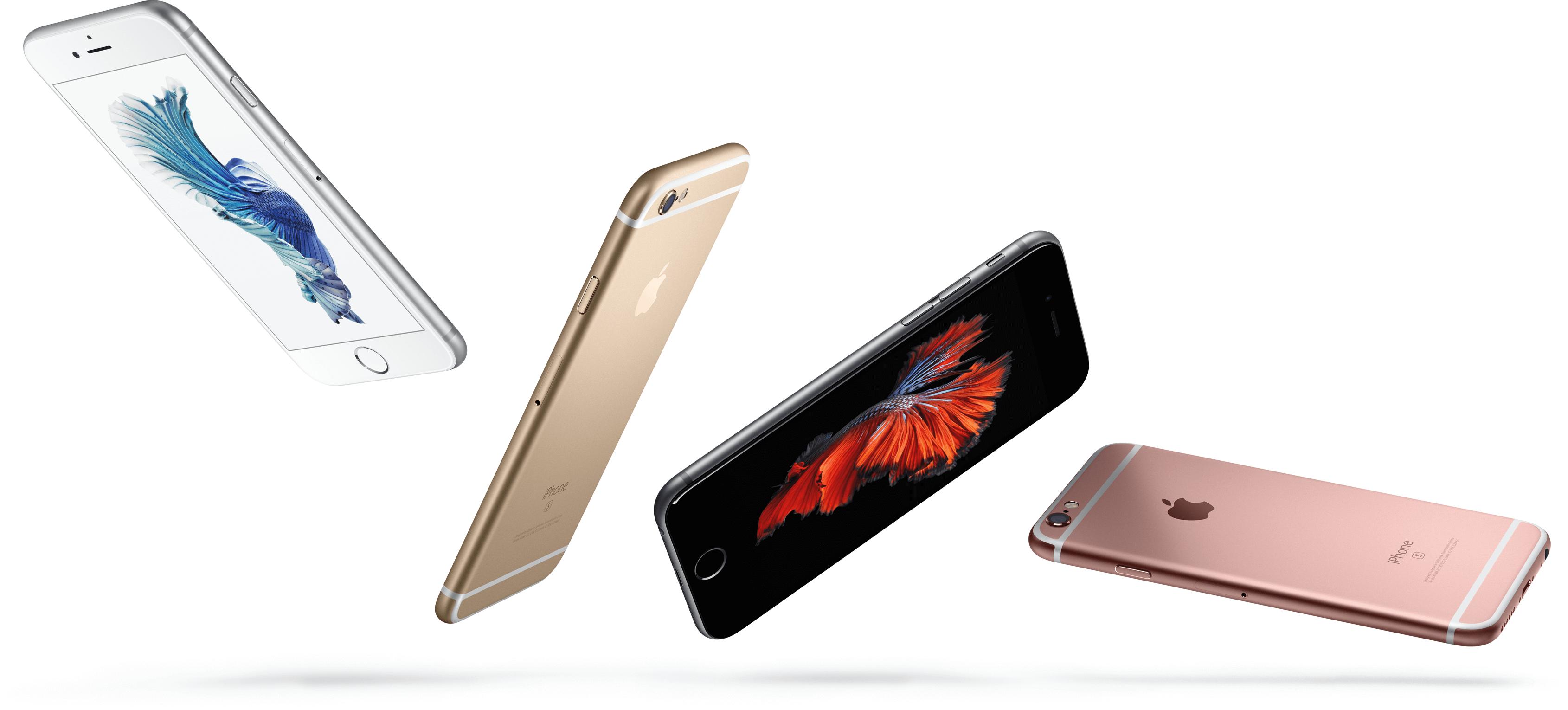 iPhone 6s разных цветов