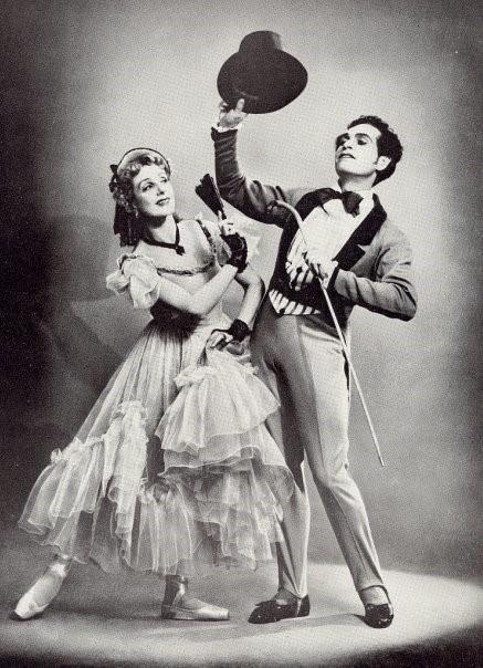 М. М. Гершман. Парный портрет солистов Ленинградского балета Наталии Дудинской и Константина Сергеева.
