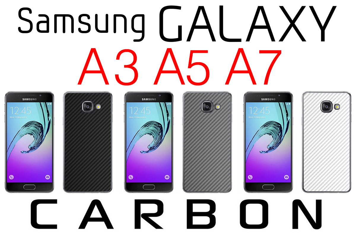 textured carbon skin fiber samsung galaxy a3 a5 a7 2016 protection sticker wrap ebay. Black Bedroom Furniture Sets. Home Design Ideas