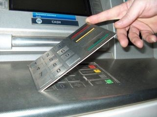 Figure 1 Example of scamming pad on the ATM keypad
