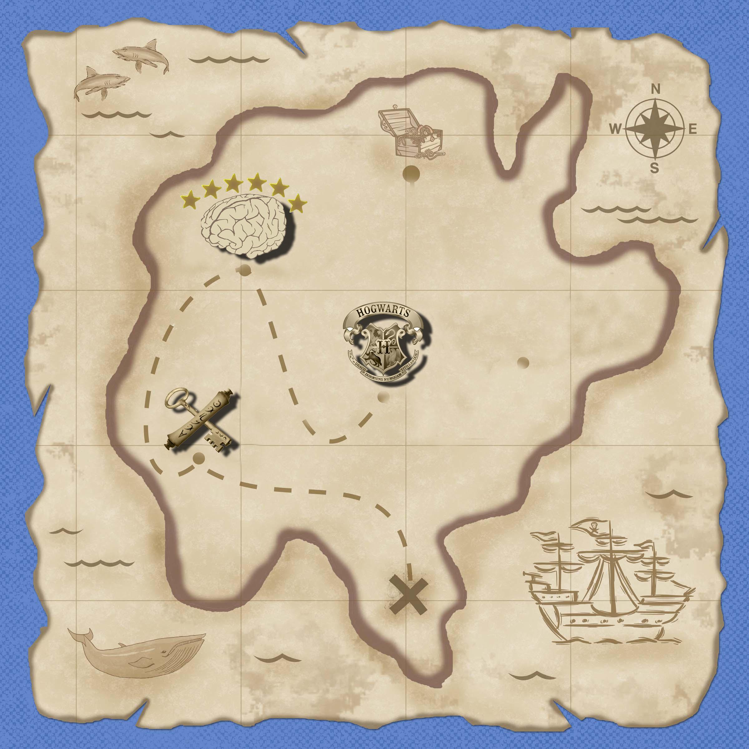Карта поиска сокровищ своими руками