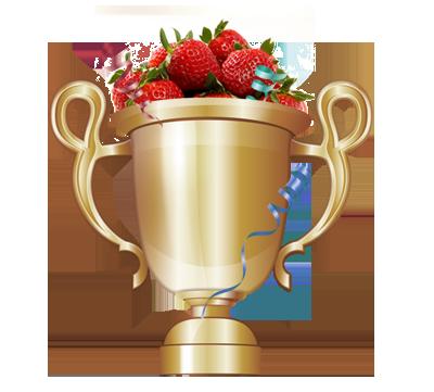 Кубок с клубникой