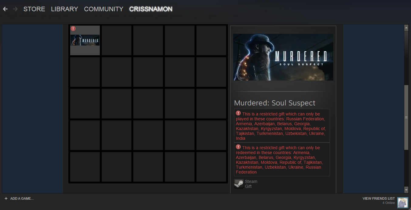 Продам Murdered: Soul Suspect за 300 рублей