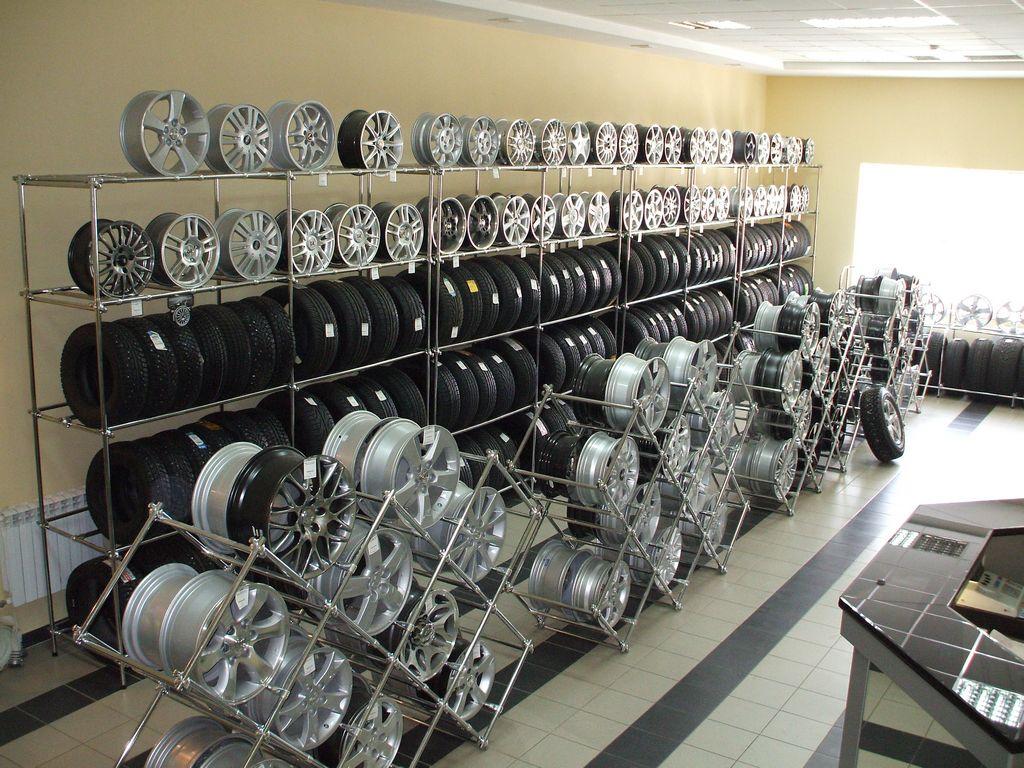 Стенд для хранения шин