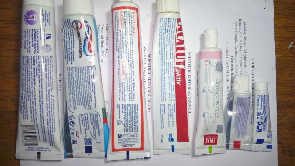 Что означает цвет на тюбике зубной пасты