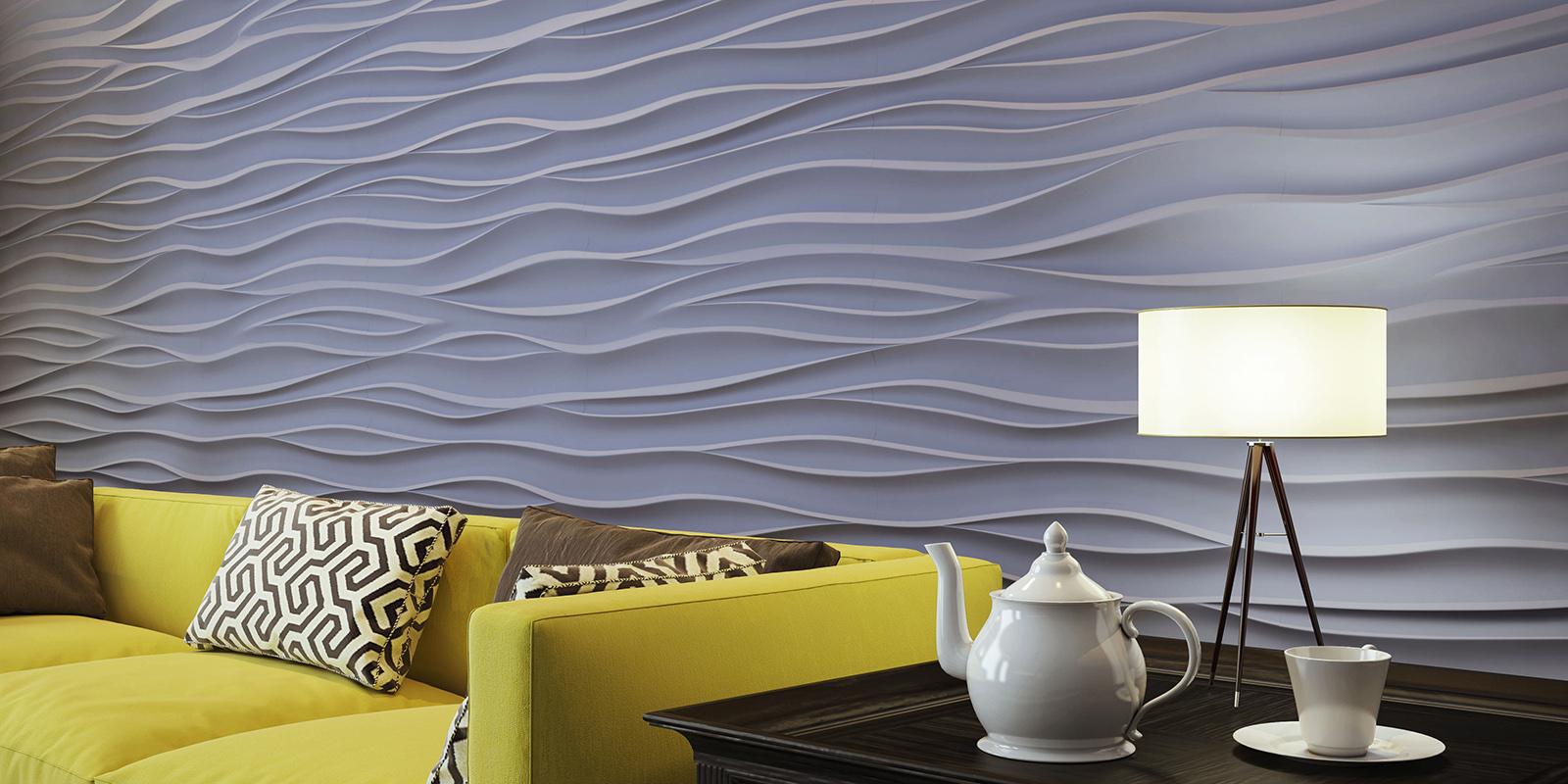 Декоративные 3д панели Волна