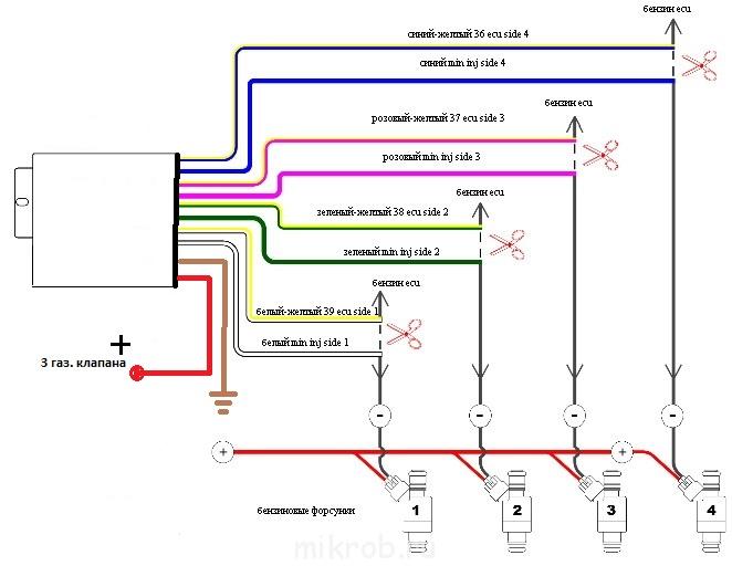 Эмулятор форсунок гбо схема