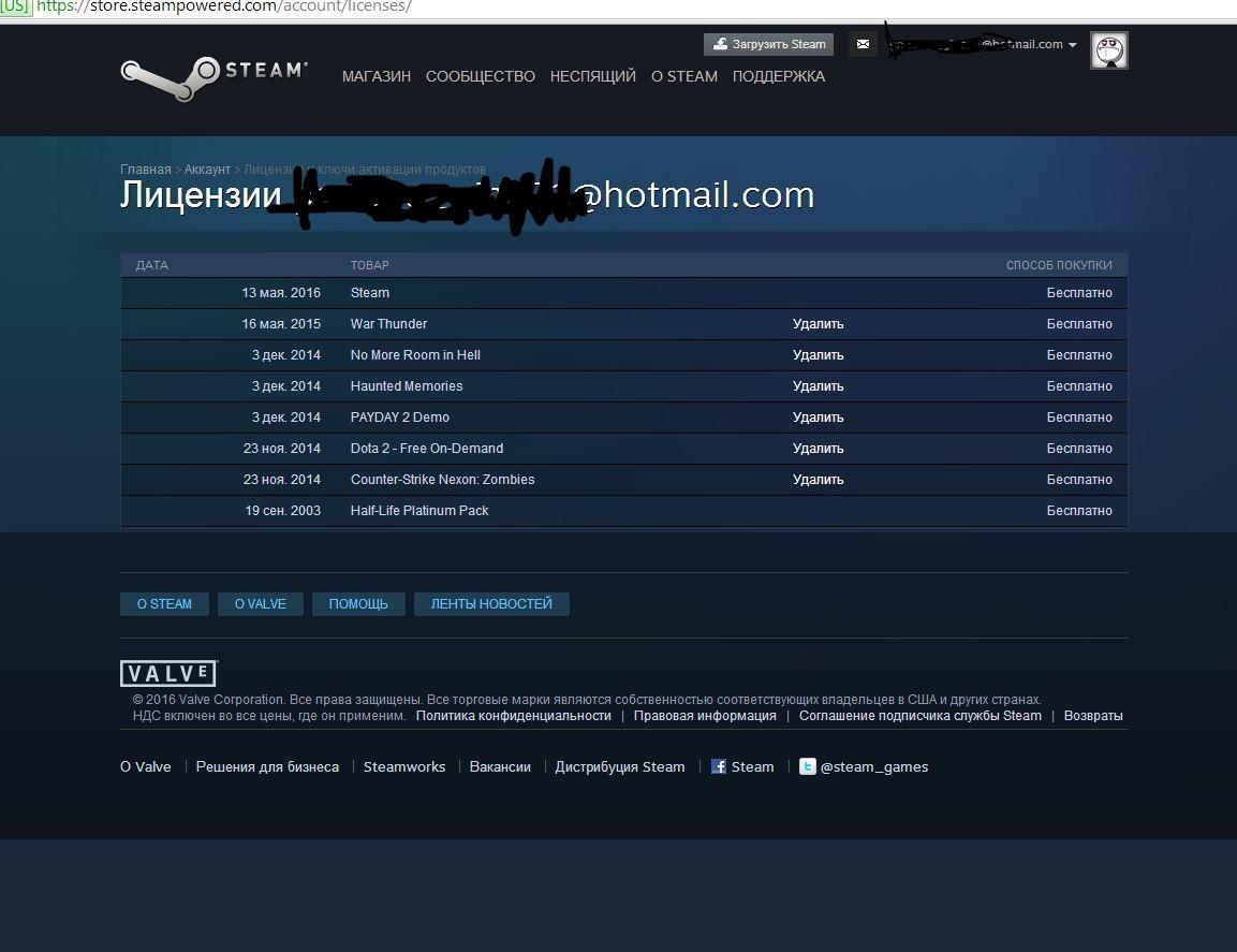Продам аккаунт Steam 2003 года регистрации