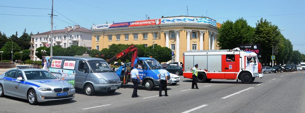 В Нальчике состоялся масштабный автопробег в честь 80-летия Госавтоинспекции