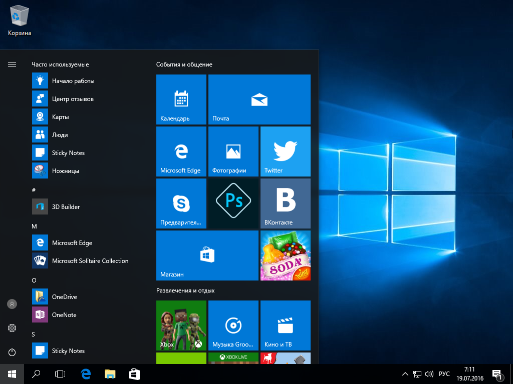 Windows 10 RTM-Escrow Version 1607 build 10.0.14393 (2016) ���������� / �������