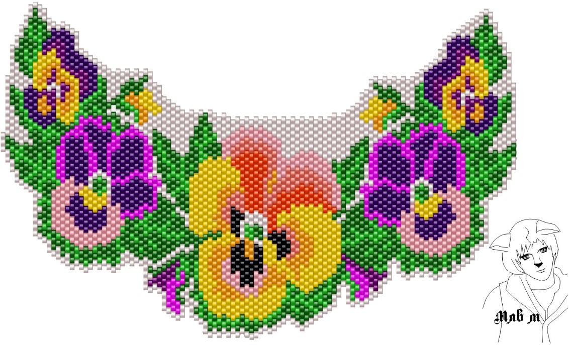 Схемы для кирпичного плетения бисером рисунки