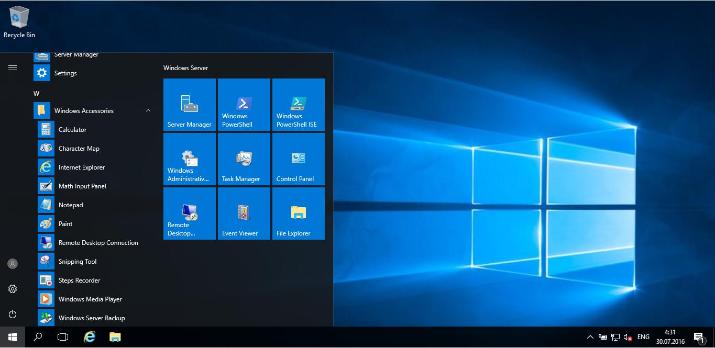 Microsoft Windows Server 2016 Version 1607 build 10.0.14393 (EN)