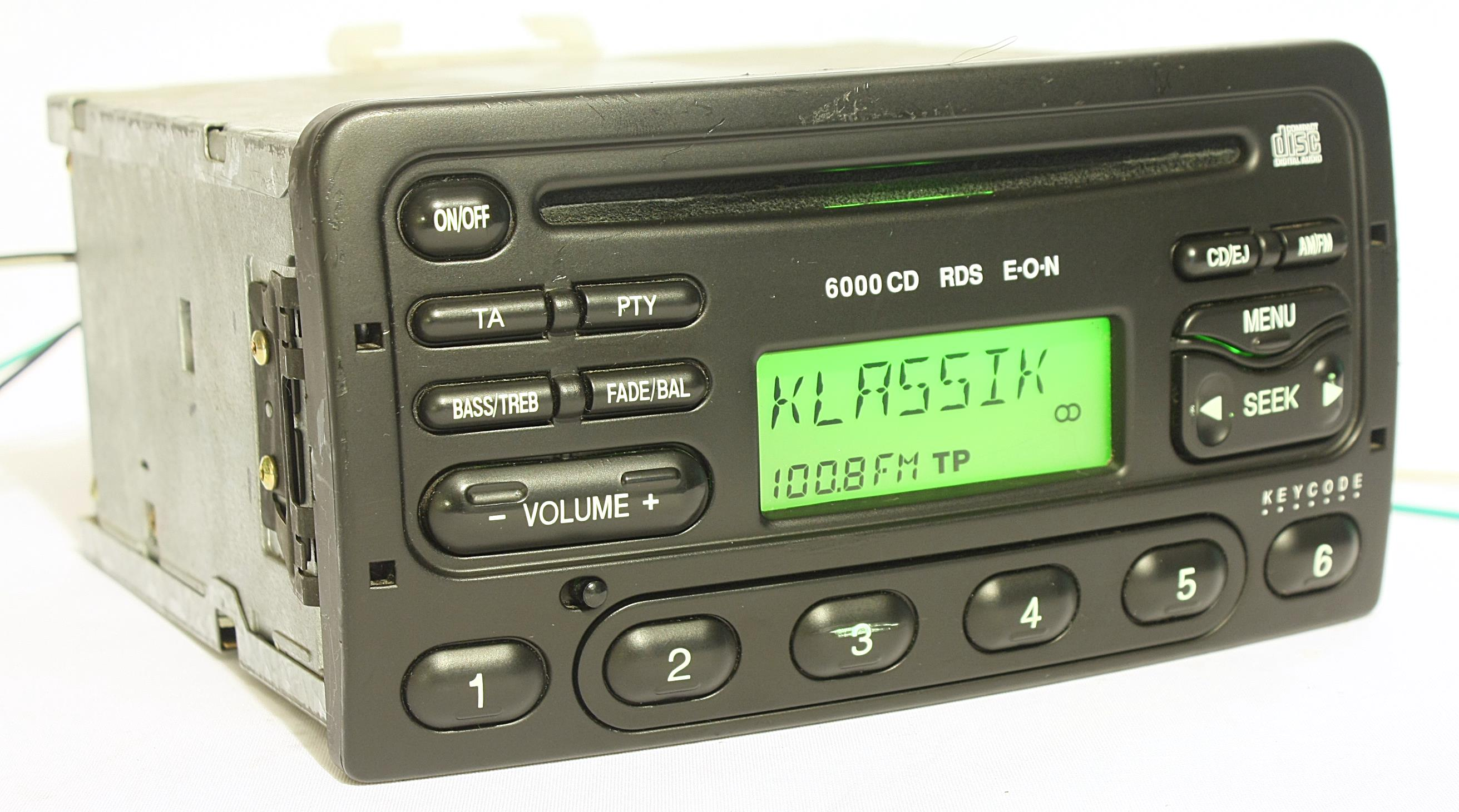 original ford autoradio 6000 cd tuner rds mit code focus mondeo fiesta transit ebay. Black Bedroom Furniture Sets. Home Design Ideas