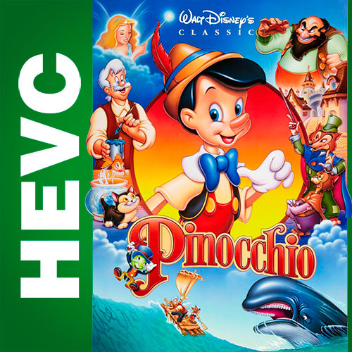 Пиноккио / Pinocchio (1940) BDRip HEVC 1080p | D