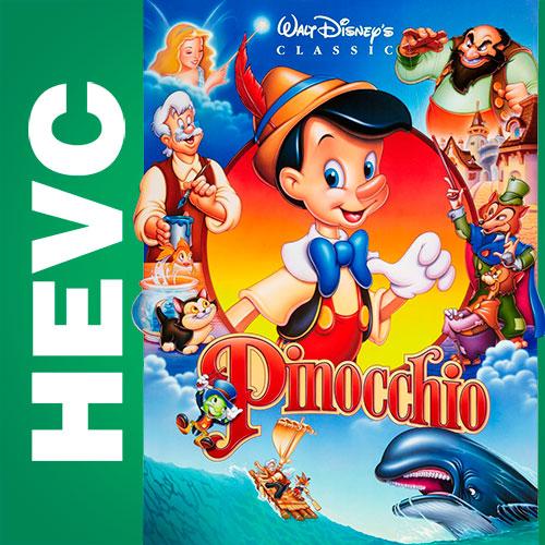 Пиноккио / Pinocchio (1940) BDRip HEVC 720p | D