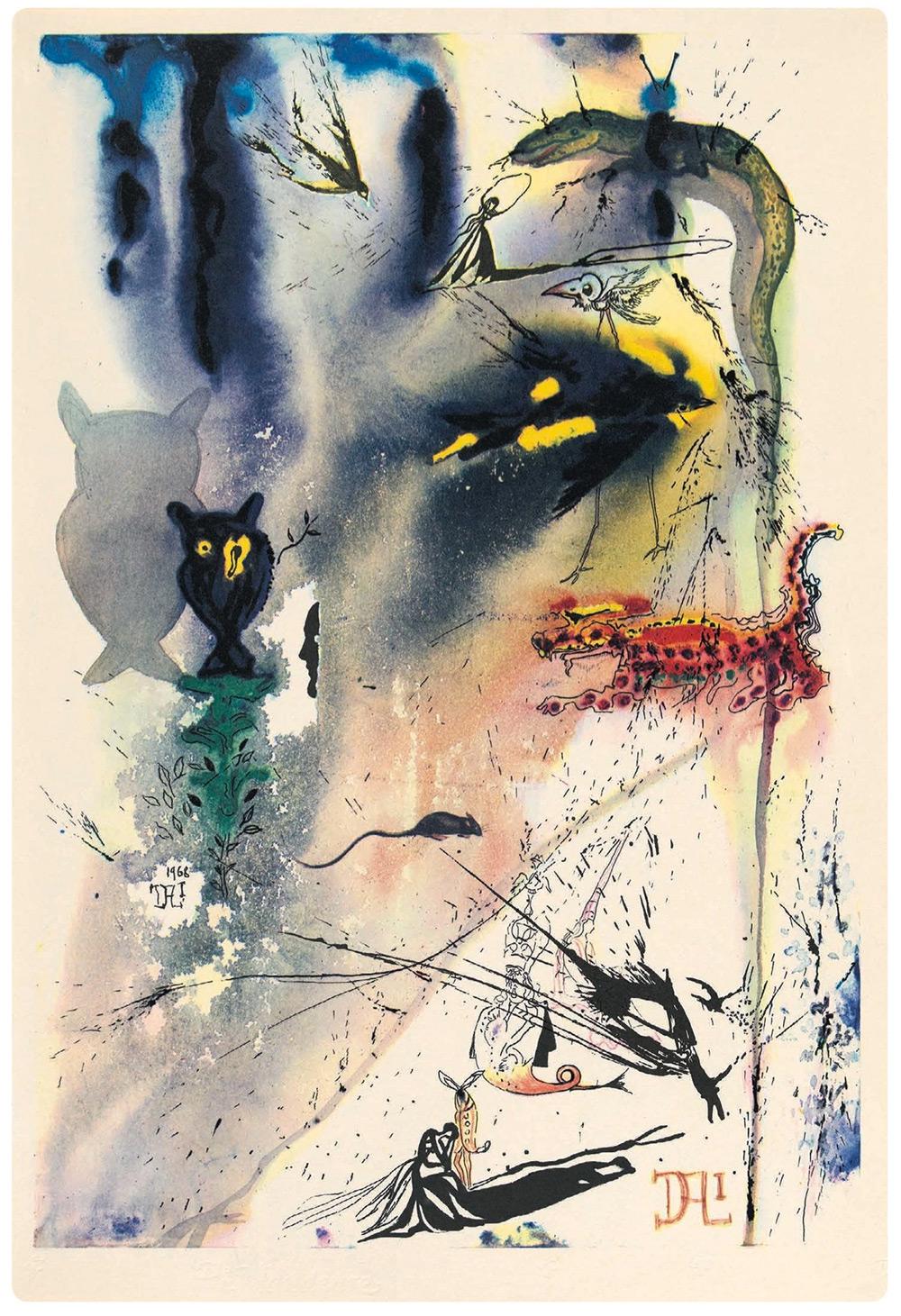 """150 років виданню """"Аліси в країні чудес"""" - унікальні ілюстрації Сальвадора Далі (1969)"""