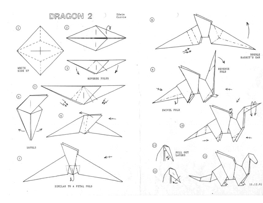 Оригами схемы драконы
