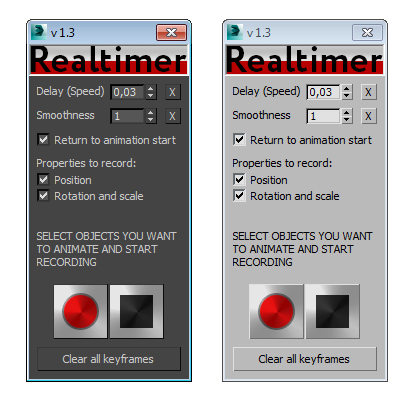 Realtimer plug-in interface