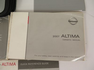 2007 Nissan Altima Owners Manual