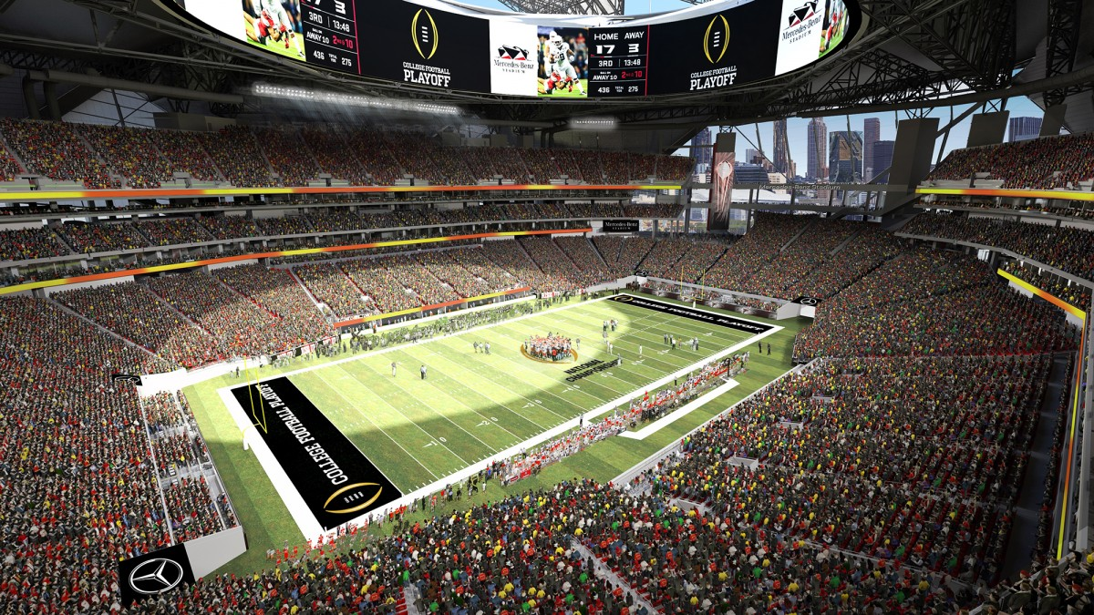 16 2016 for Who owns mercedes benz stadium