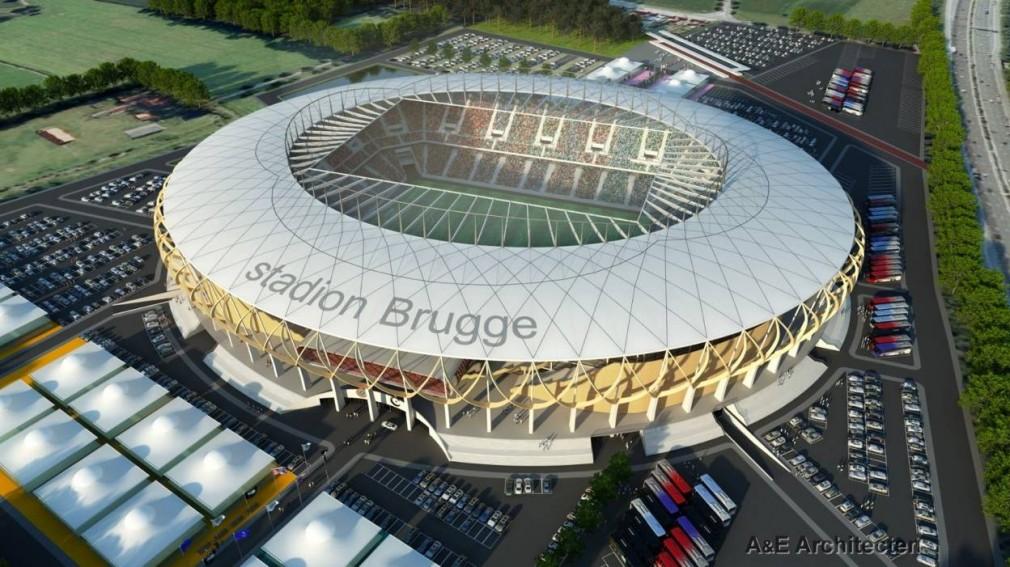 Проект нового стадиона Брюгге