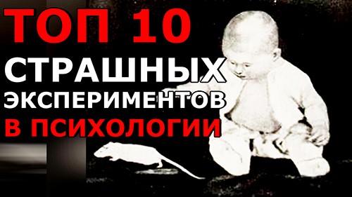 10 САМЫХ СТРАШНЫХ ЭКСПЕРИМЕНТОВ В ПСИХОЛОГИИ