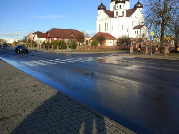 Пешеходный переход от ЗАГСа к церкви