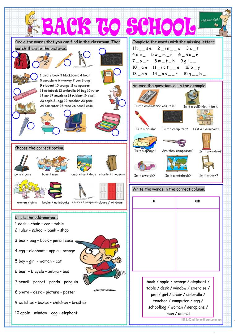 Esl vocabulary worksheets high school