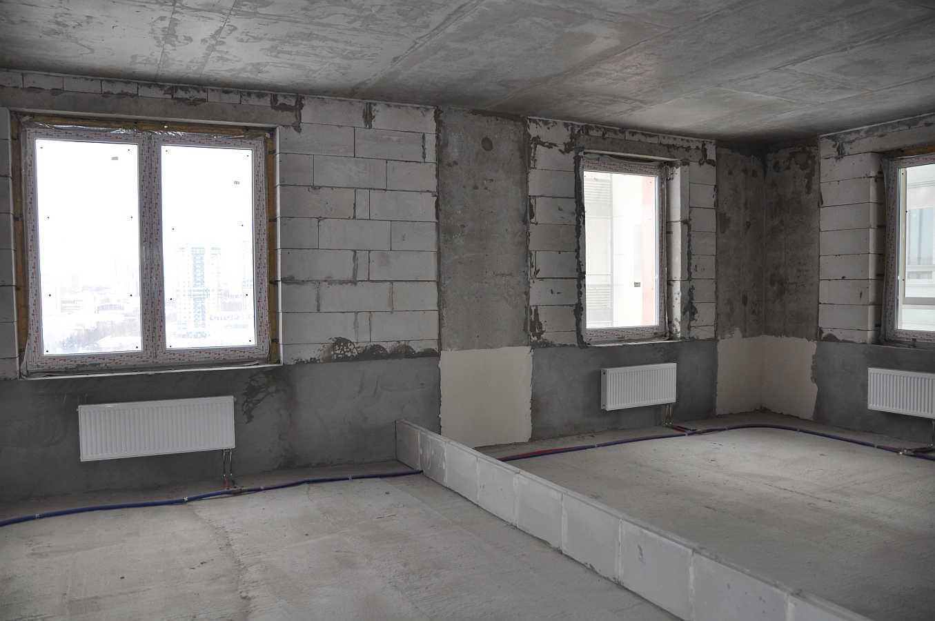 Квартира свободной планировки, без отделки