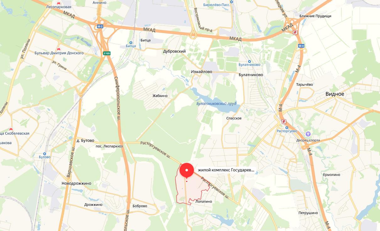 ЖК Государев Дом на карте Московской области
