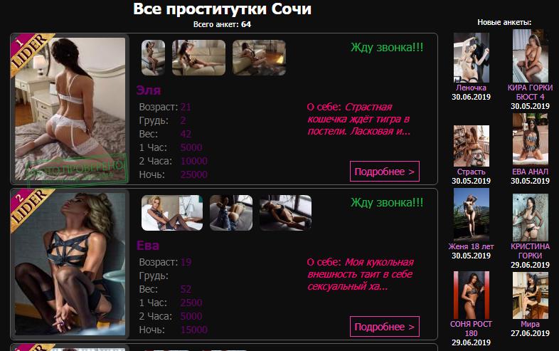 Шлюхи Сочи В Контакте