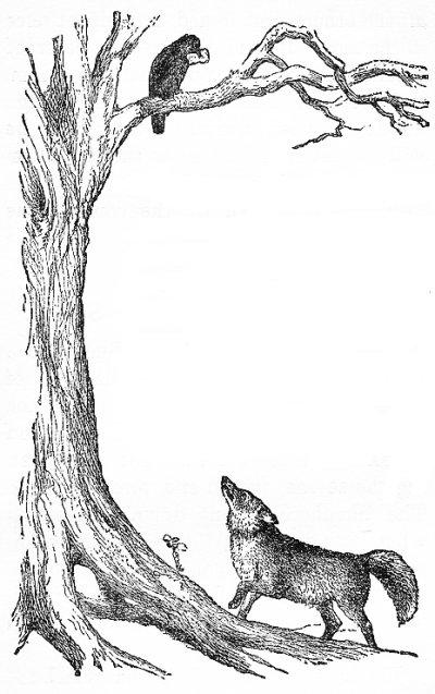 Ворона и лисица картинки раскраска