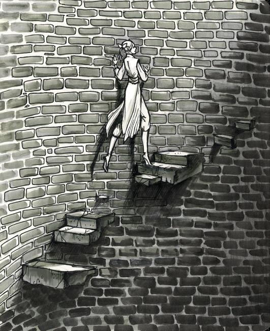 Девушка в башне картинка