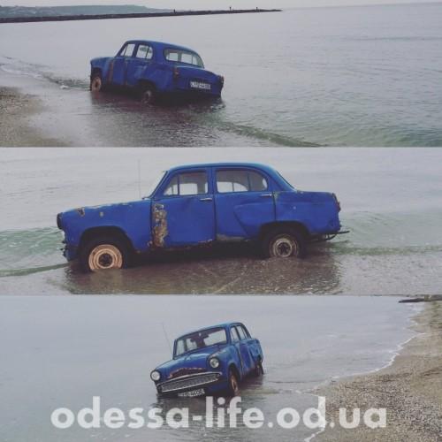 d9045316fbc2ab51d2cd3fc9ce52fa97 На одесской Крыжановке в море выловили автомобиль