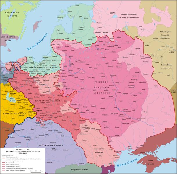 Велике князівство Литовське, Руське й Жемайтійське в 1386—1434 роках