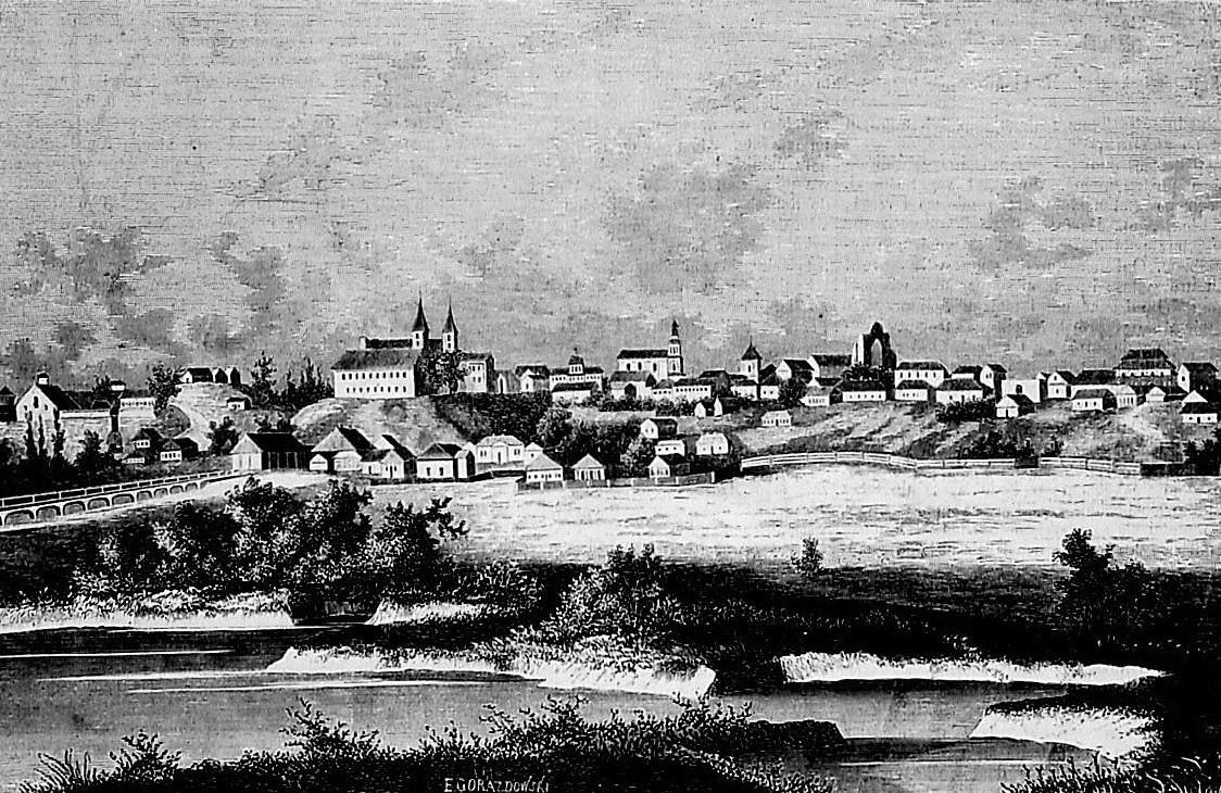 Овруч. Гравюра Е. Ґораздовського (1864).