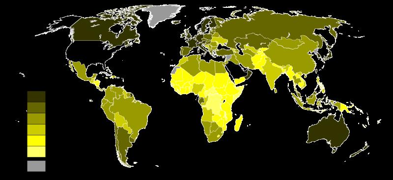 рівень виробництва ВВП за ПКС на душу населення по країнах світу у 2015 році