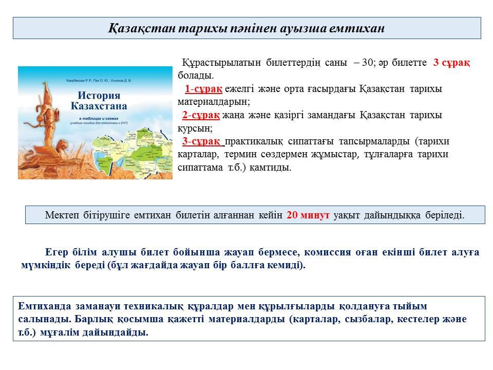 Казакстан Тарихтан Шпаргалка Соткага Казакша
