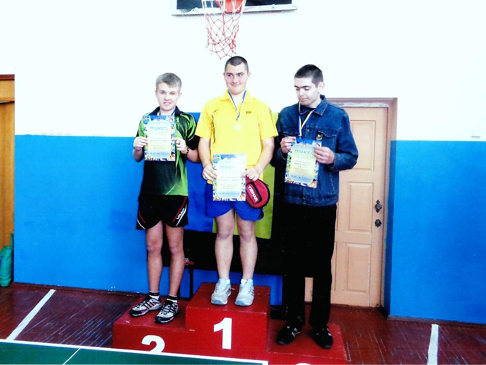 Уманчани здобули золото на чемпіонаті області з настільного тенісу