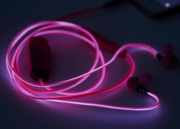 купить светящиеся наушники glow