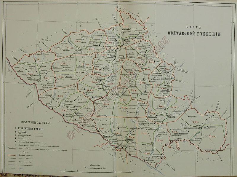 Полтавська губернія на початку 1860-х років